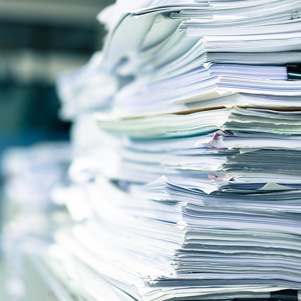 Paperwork pile